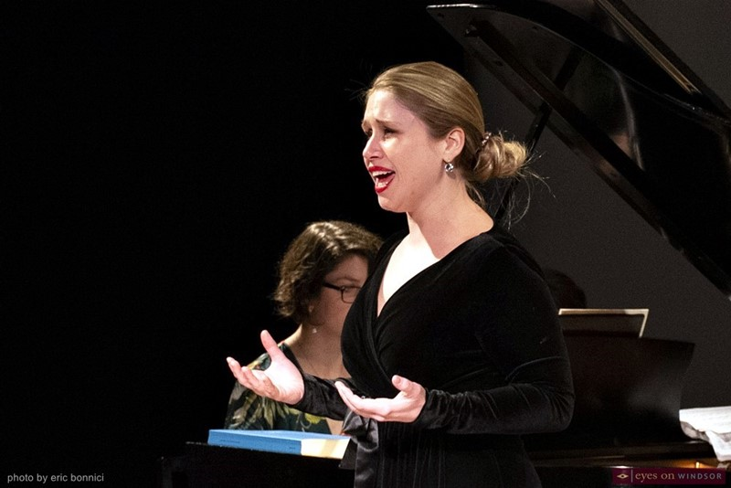 Kaitlyn Clifford Singing During Abridged Opera Concert
