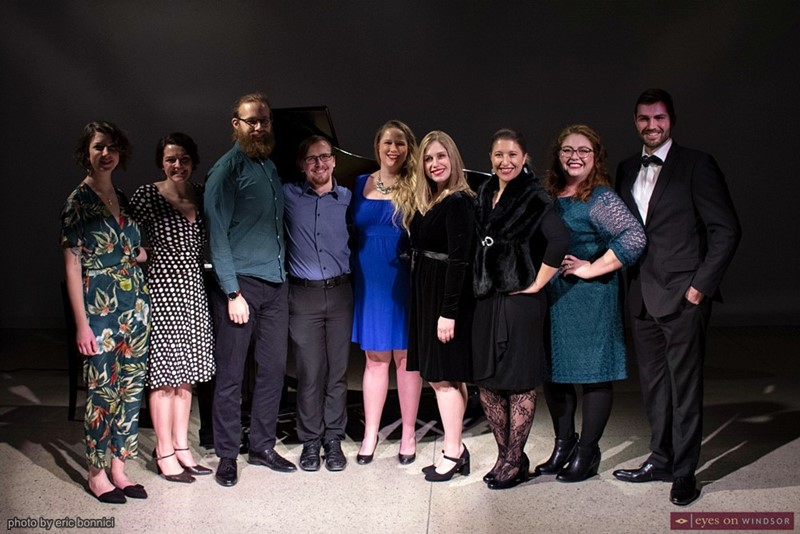 Abridged Opera singers following season launch concert.
