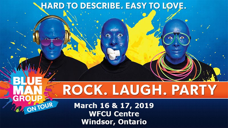 Blue Man Group Tour Windsor Ontario WFCU Centre Poster