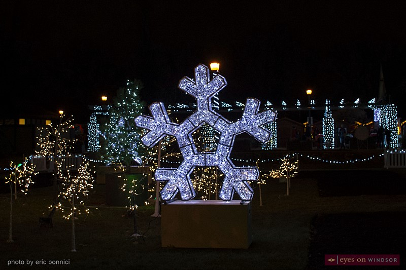 Snowflake light display at Bright Lights Windsor