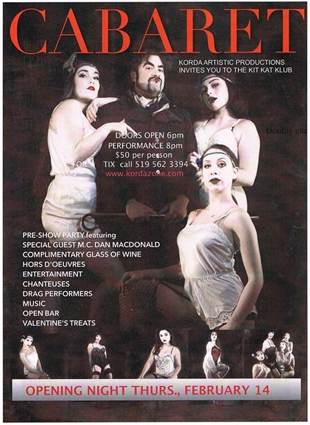 Korda Cabaret Opening Night Poster Kit Kat Klub Party / Gala
