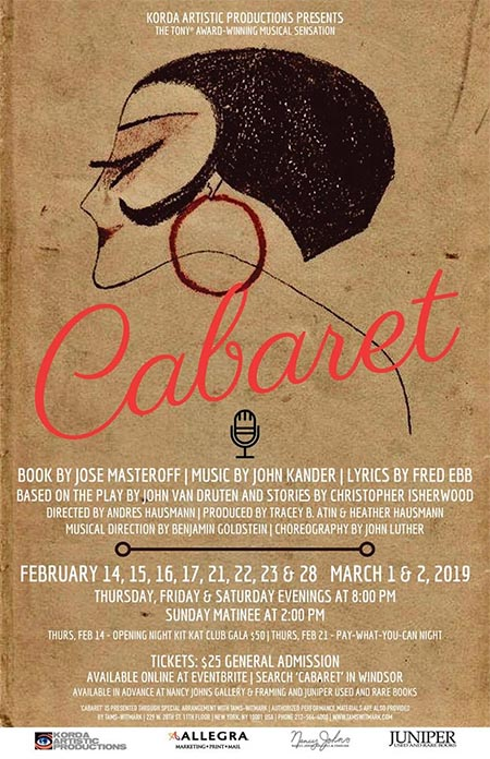 Cabaret at Kordazone Theatre Poster