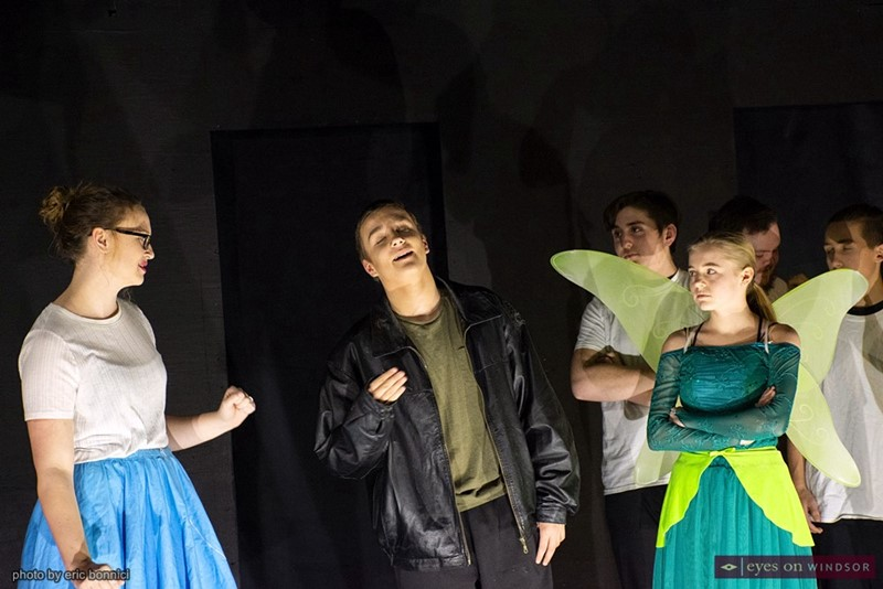 Teagan Smallhorn as Cinderella, Nicky Kiteley as Peter Pan, and Emily Pinkney as Tinkerbell