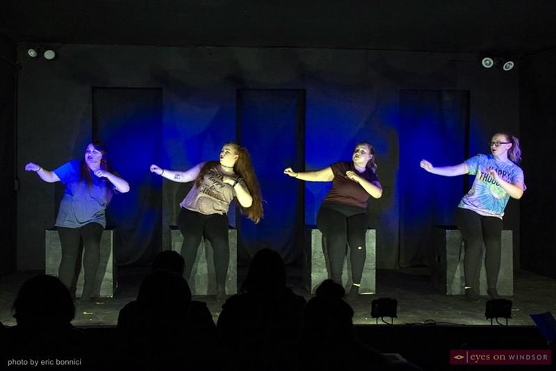 Taylor Thibert, Kayla McArdle, Yasmine Sole, and Teagan Smallhorn