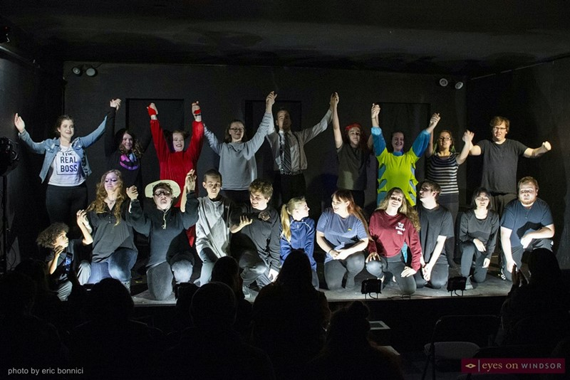 Cast of Revolution Youth Theatre's Annual Variety Show, Through The Ages.