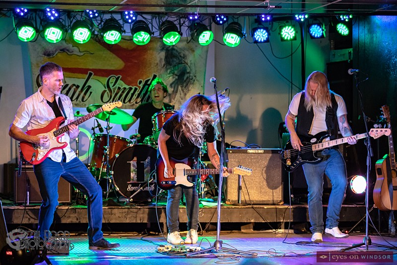 The Sarah Smith Band performing in Windsor, Ontario.
