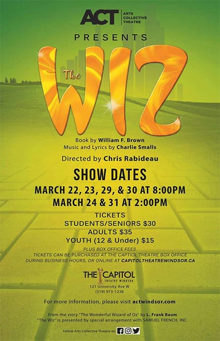The Wiz presented by ACT Windsor Poster