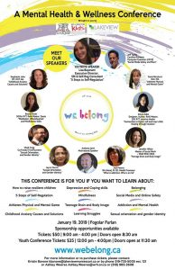 WE Belong Mental Health and Wellness Conference Poster