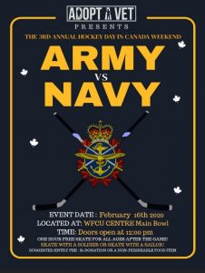 Army vs Navy Hockey Day in Canada Poster (Adopt A Vet)