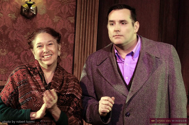 Tracey Atin, cast as Landlady Fraulein Schneider, and Martin Ouellette, playing American in Berlin Cliff Bradshaw