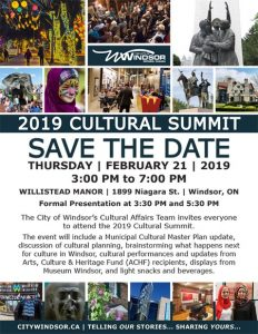 City of Windsor Cultural Summit Poster