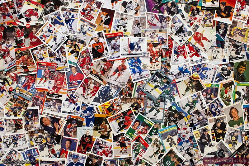Quebec City based artist Marc-Antoine Phaneuf's work featuring 2500 hockey cards.