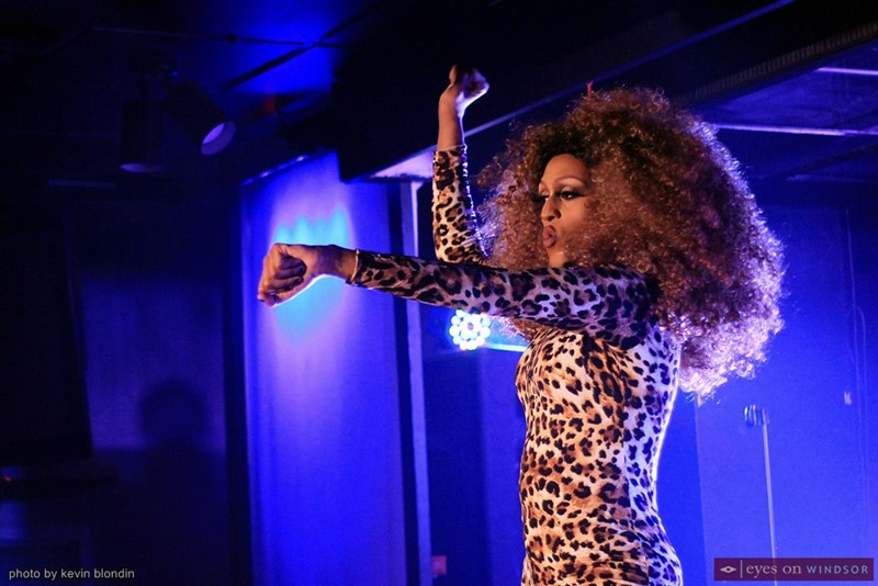 Priyanka Love performing as Scary Spice during the Spice Girls show.
