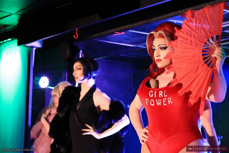 Baby Bel Bel performing as Ginger Spice during Spice Queens show.