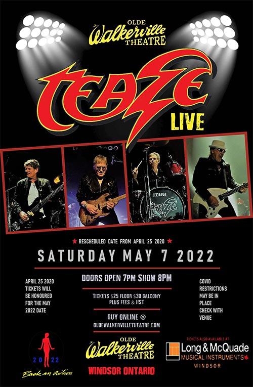 Teaze Resurrection Concert Poster