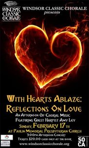 Windsor Classic Chorale Presents With Hearts Ablaze Poster