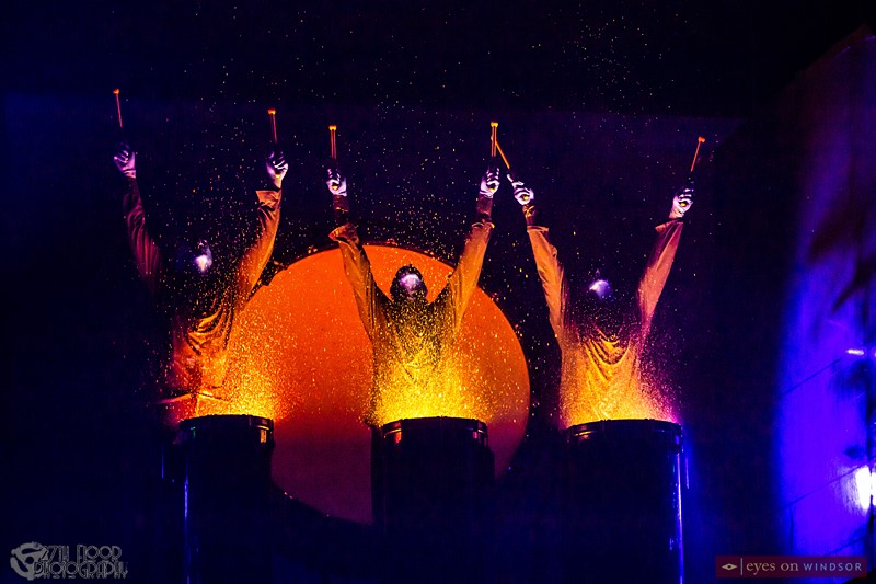 Blue Man Group Paint Drumming