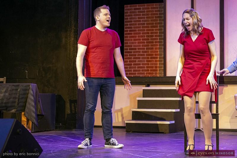 Drew Beaudoin as Gabe Goodman (left) and Lindsay Norris as Diana Goodman