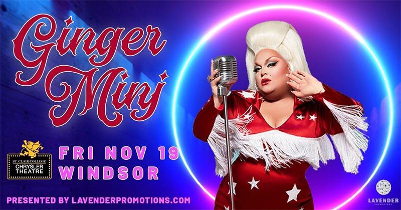 Ginger Minj Drag Queen Show Windsor