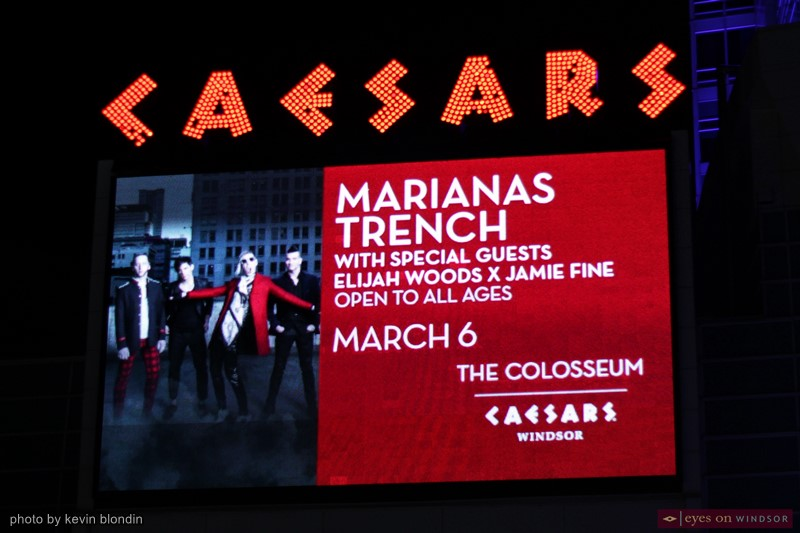Marianas Trench sign outside Windsor
