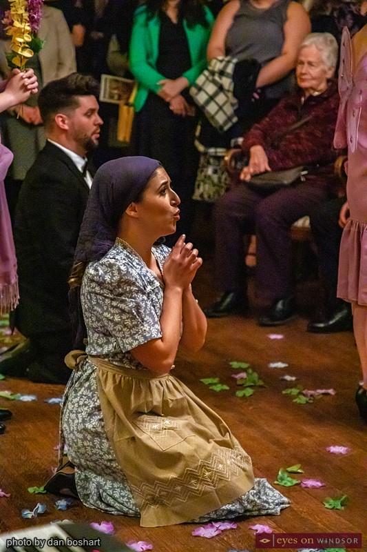 Philip Klaassen as Prince Charming and Amelia Daigle as Cinderella