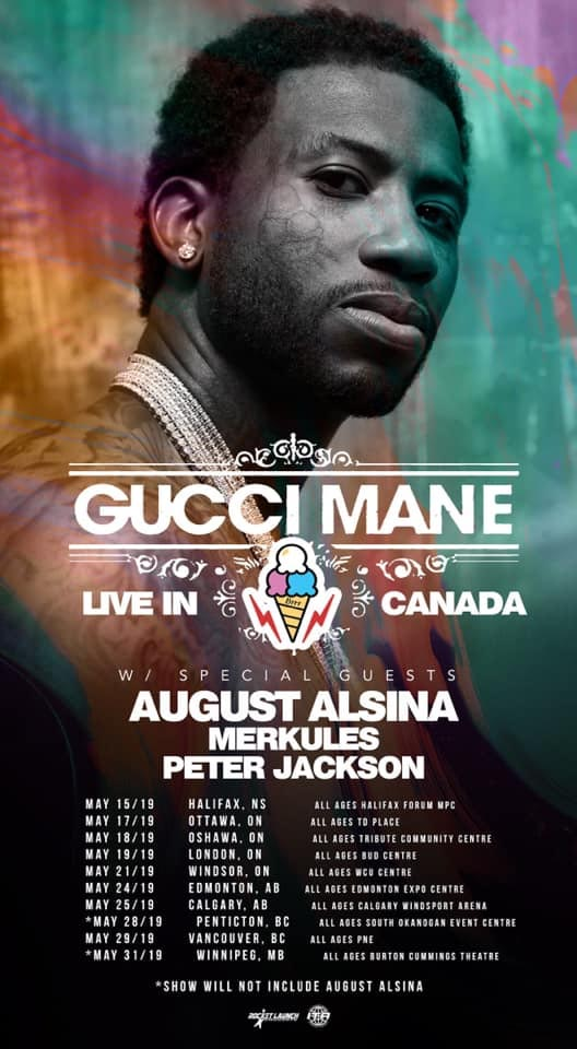 Gucci Mane Poster Coming To Windsor at WFCU Centre