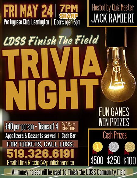 Finish The Field Trivia Night Poster