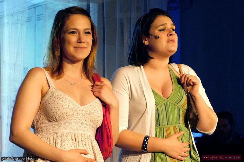 Anna Mazurik and Caroline Burton