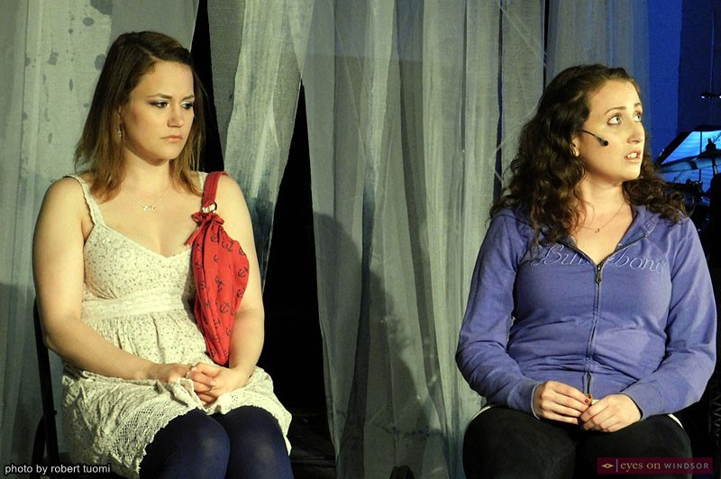 Anna Mazurik as Jenn and Katie Miller as Jeanelle in The Pregnancy Pact