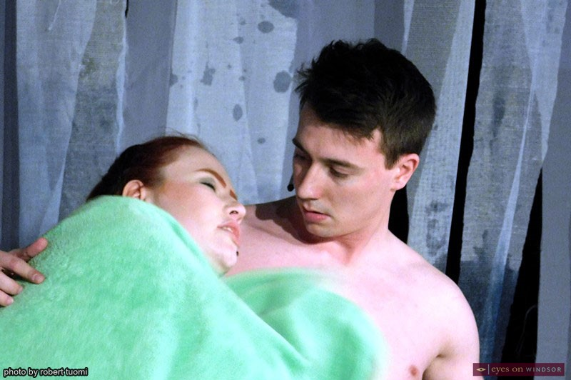 Samantha Bourque and Sean Sennett performing in Pregnancy Pact