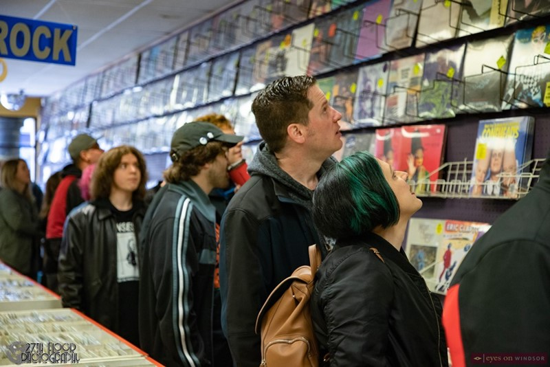 Dr. Disc Records Customers Shopping on Record Store Day
