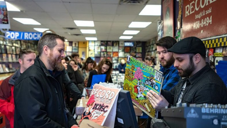 Enthusiastic Music Fans Fill Dr. Disc Records For Record Store Day Celebration