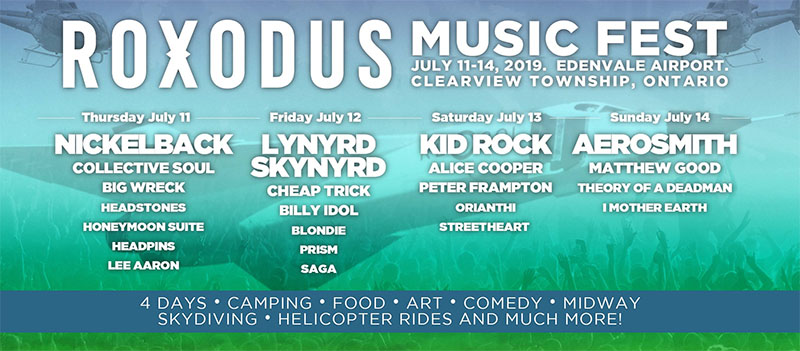 Roxodus Music Festival Line Up.