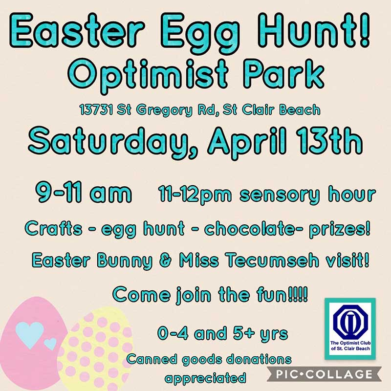 Optimist Club of St. Clair Beach Easter Egg Hunt