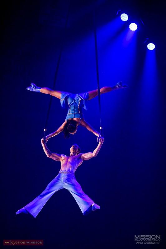 Corteo Cirque du Soleil Aerial acrobats