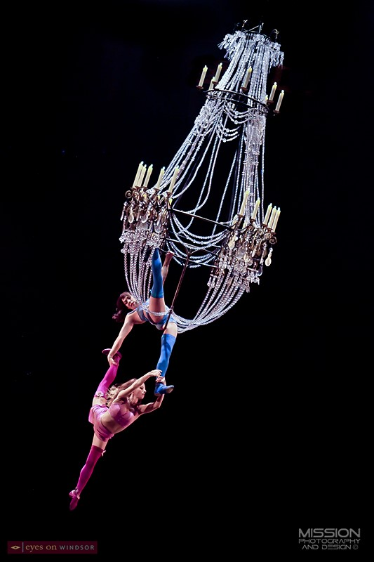 Corteo by Cirque du Soleil Chandelier Act