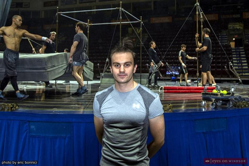 Johan Juslin cast member of Corteo by Cirque du Soleil