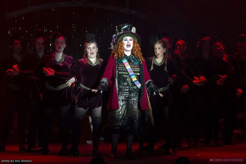 Jessica Chalmers as the Mad Hatter