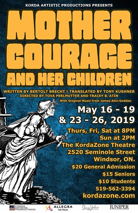 Mother Courage & Her Children Korda Artistic Productions Poster