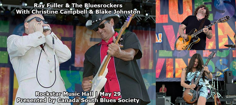 Ray Fuller and the Bluesrockers (Doc Malone) with Christine Campbell Windsor Concert