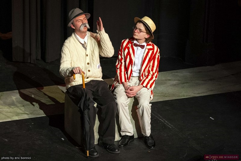 Ashton Curtis and Patrick Halligan in Walkerville's Rhinoceros