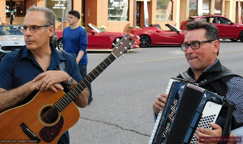 Rocky Ieraci and Rocky Ieraci a music duo performing during the Via Italia Italian Village