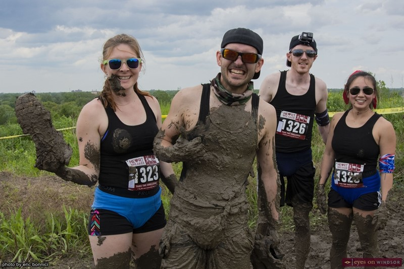 Heart Breaker Challenge Participants Covered in Mud