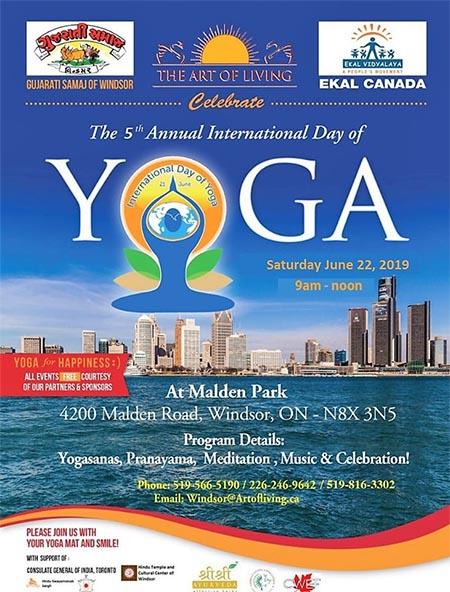International Day of Yoga Windsor Poster