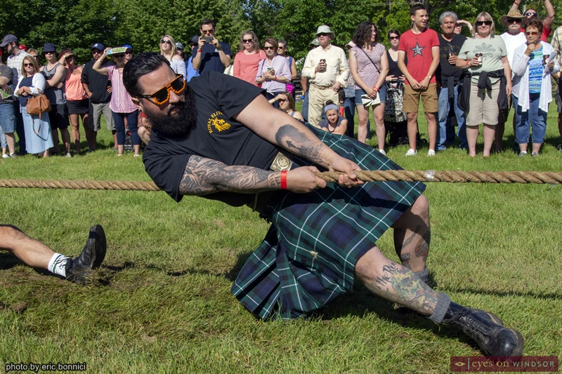 Tug of War Participant at the Kingsville Highland Games