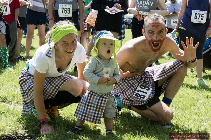 The Allaire Family at the Kingsville Kilt Run