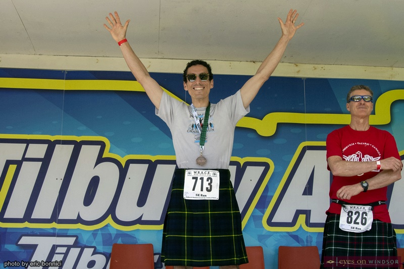 Kingsville Kilt Run participant Joe Grossi