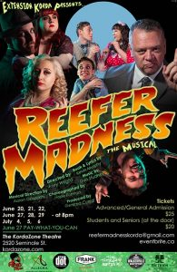 Reefer Madness Kordazone Theatre Poster