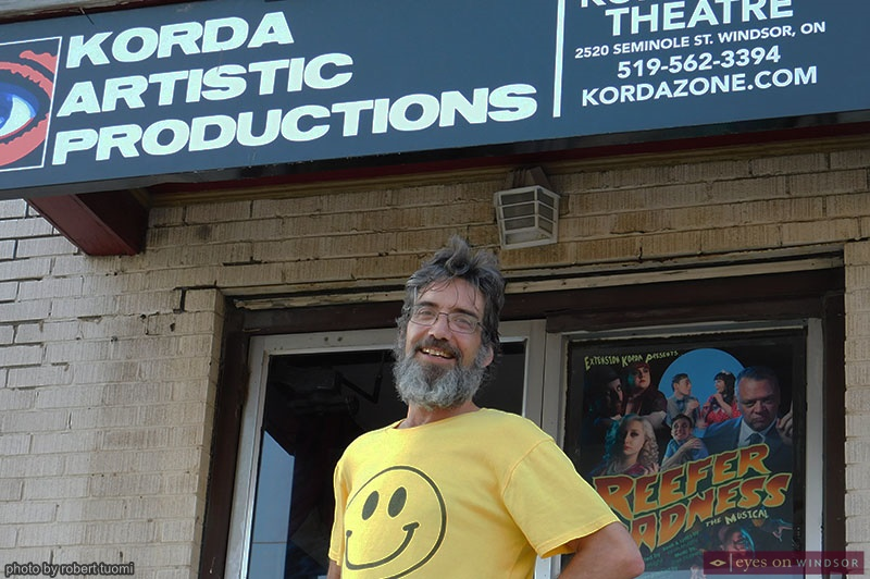 Michael Haggart standing in front of Kordazone Theatre