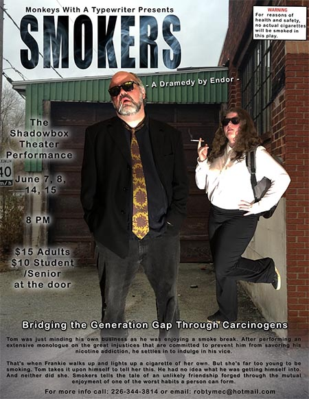 Smokers Monkeys With A Typewriter Poster